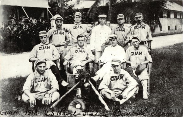Guam 1918 US Naval Station Baseball Team Anigua