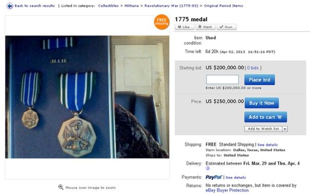 Auction Screen shot