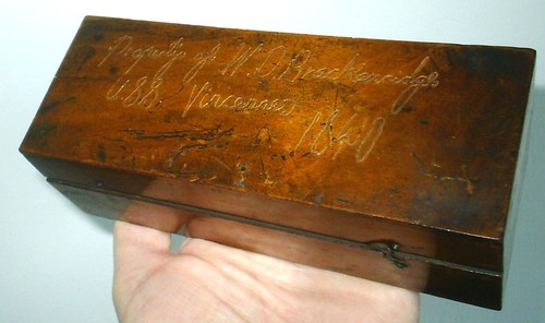 William D Brackenridge Microscope Box