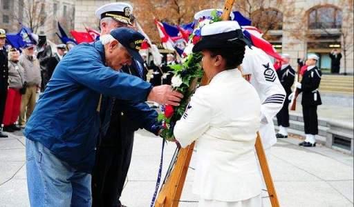 WWII Navy Veteran Frank Yanick Wreath 2012