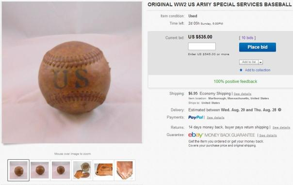 "With two days remaining on this auction, the astronomically high bid is going to be a tough pill to swallow for the ""winner."" The seller is probably seeing dollar signs as he imagines $500+ for each ball that he lists."