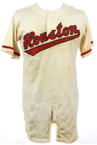 Houston Buffs rayon jersey, early 1950s.