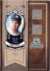 To make this limited edition insert card, Donruss destroyed one full set of Babe Ruth's road gray uniforms.