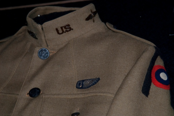 The WWI uniform of LT Marc A. Lagen, 1st Army Air Service, Balloon Pilot on display at the Museum of Flight in Seattle, WA.