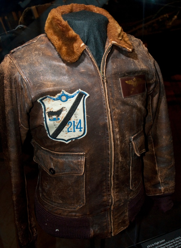 This G-1 flight jacket belonged to Fred Losch (Capt. USMC), aviator of the famed VMF-214 (Blacksheep Squadron) is housed at the Museum of Flight in Seattle.