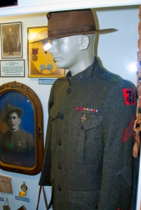 The uniform of WWI U.S.M.C Sergeant who served with the 5th Marine Brigade.