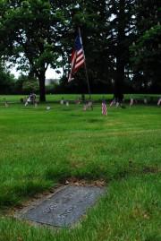 The grave of Union Veteran and GAR member, Omar Cheney.