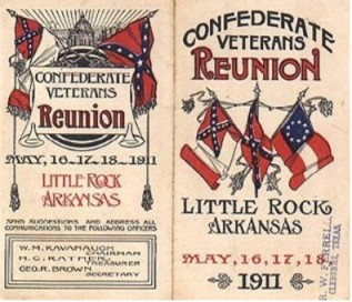 A 1911 reunion pamphlet for the United Confederate Veterans organization.