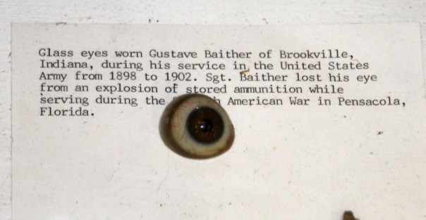 Closer inspection of Blaither's collection yields this odd gem - his glass eye.