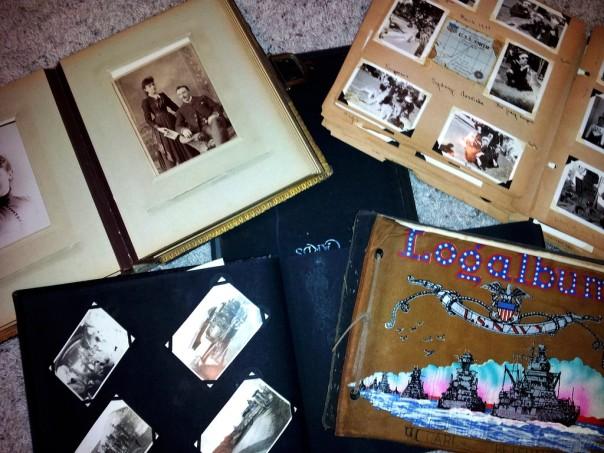 Here is a sampling of vintage photo albums I've inherited.