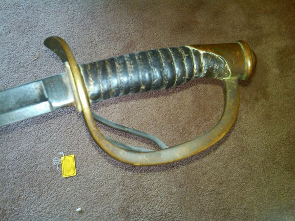Sadly, I only have photos of the Model 1860 Cavalry Sword's handle.