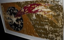 This section of cloth survives from an aircraft of the 1st Army Aero Pursuit Squadron and is preserved at the Museum of Flight in Seattle, Washington.