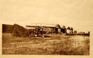 This vintage photo shows the original hangars at the Stow Maries Aerodrome in use during the war (source: StowMaries Aerodrome.com).