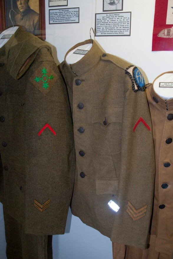 Though these uniforms have a classy appearance, they were designed for and used in combat. Their OD green color was the precursor to camouflage.