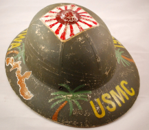 """Showing the rear of the pith with the painted """"USMC"""" (source: eBay image)."""