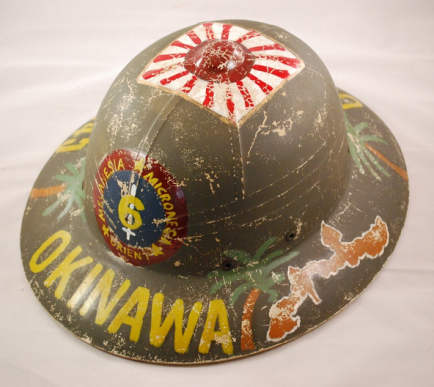 Showing the left side of the 1945 Okinawa pith (source: eBay image).